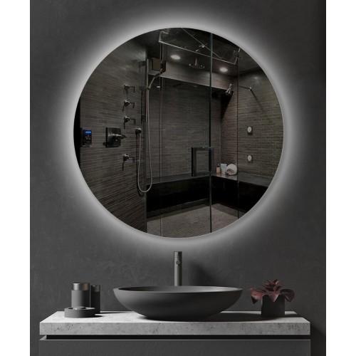 Зеркало с белой внутренней подсветкой для ванной комнаты Марсель