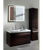 Квадратное зеркало с подсветкой в ванной Катро 40x40 см